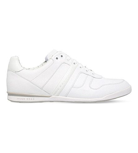 BOSS G Arkansas leather trainers (White