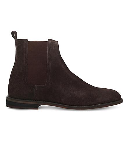 KG KURT GEIGER Cole suede Chelsea boots (Brown