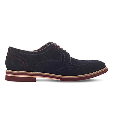 TED BAKER Archerr 2 suede Derby shoes (Navy