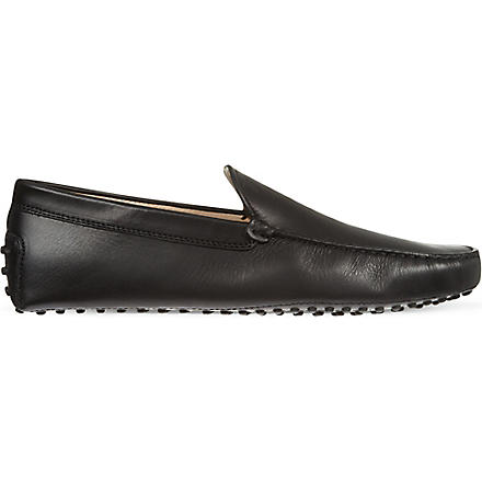 TODS Gommini leather driving shoes (Black