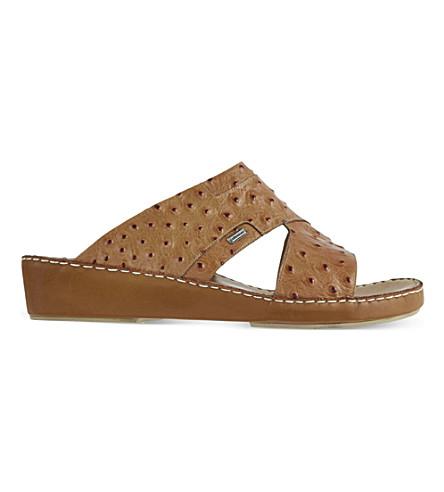 STEMAR Trunk ostrich skin sandals