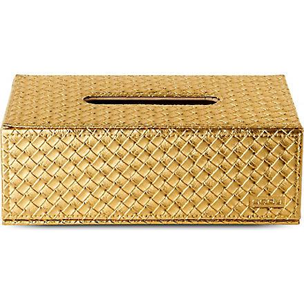 WEST ONE BATHROOMS Marrakech kleenex box (Gold