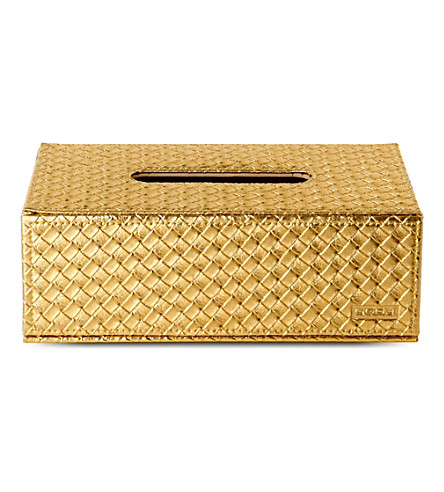 WEST ONE BATHROOMS Marrakech kleenex box (Gold