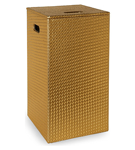 WEST ONE BATHROOMS Marrakech laundry bin (Gold