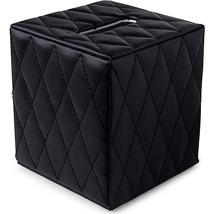 WEST ONE BATHROOMS Palace boutique tissue box (Black