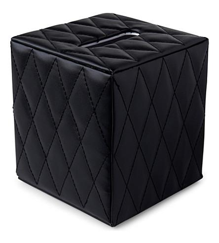 WEST ONE BATHROOMS Palace boutique tissue box (Black