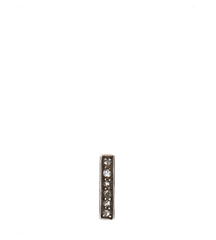 ANNINA VOGEL 9ct gold and diamond bar earring