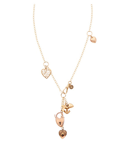 ANNINA VOGEL 9 carat gold Signature Charm necklace
