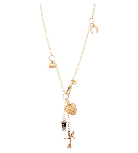 ANNINA VOGEL 9ct gold Signature Charm necklace