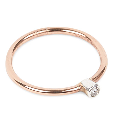 ANNINA VOGEL 9 carat rose gold and diamond ring