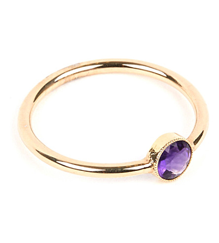 ANNINA VOGEL 9 carat gold and amethyst ring