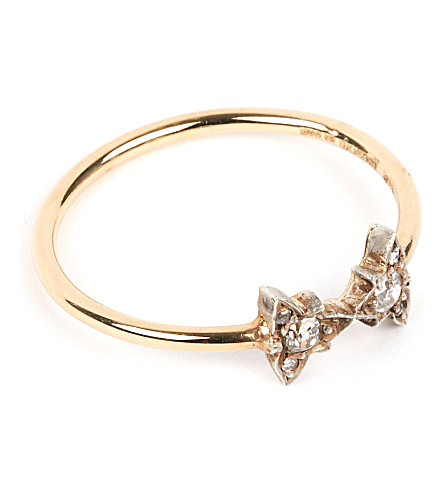 ANNINA VOGEL 9 carat gold and diamond bowtie ring