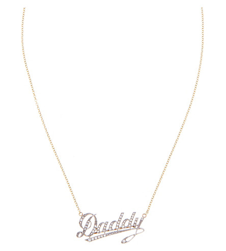 ANNINA VOGEL 9 carat gold and diamond Daddy necklace