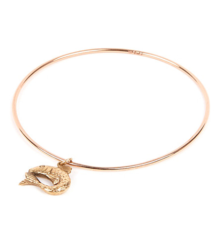 ANNINA VOGEL 9ct gold fish bangle