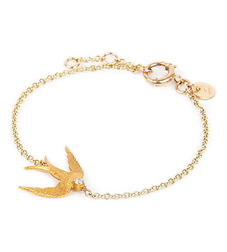 ANNINA VOGEL 9ct gold Swallow bracelet