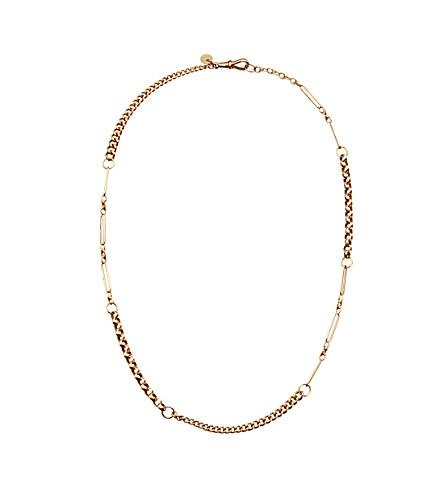 ANNINA VOGEL 9ct gold naked short investment necklace