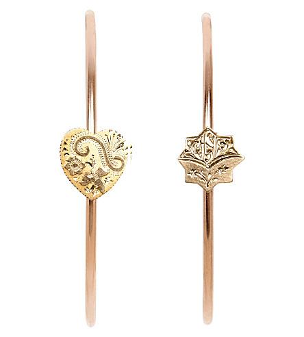 ANNINA VOGEL 9ct 玫瑰金中调和星箍耳环
