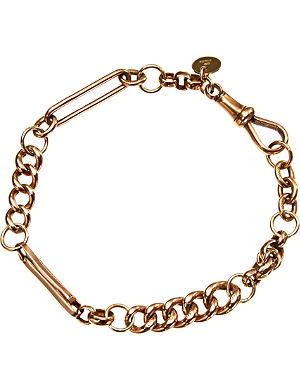 ANNINA VOGEL 9ct gold Naked mixed link bracelet