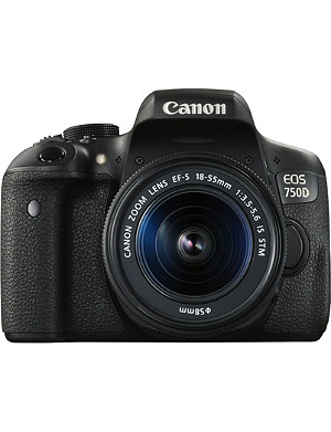 CANON EOS750 digital SLR camera with ef 18-55mm lens