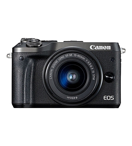 CANON EOS M6 Camera and 15-45mm Lens (Black