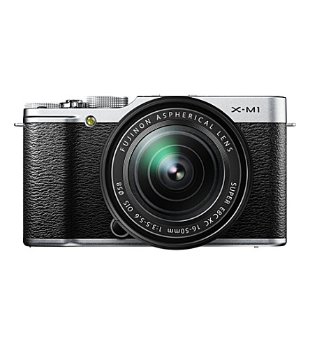 FUJI X-M1 digital compact camera with lens