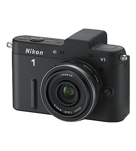 NIKON 1 V1 series camera with 10mm wide-angle lens
