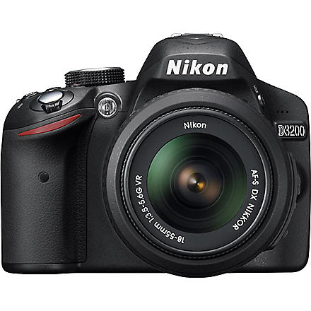 NIKON D3200 digital SLR with 18-55mm lens