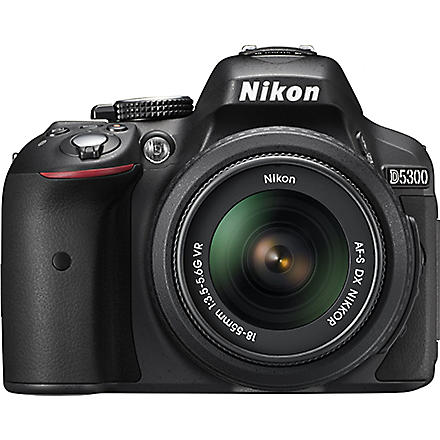 NIKON D5300 digital SLR camera with lens