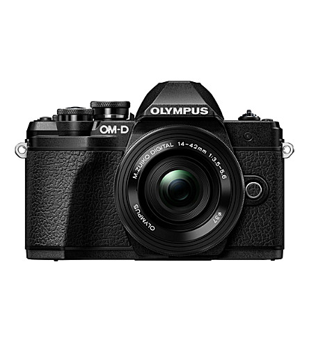 OLYMPUS OM-D E-M10 Mark III camera & 14-42 EZ Zoom lens camera kit (Black