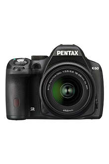 PENTAX K-50 digital SLR camera with 18-55mm lens