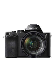 SONY Alpha a7 digital SLR camera with lens