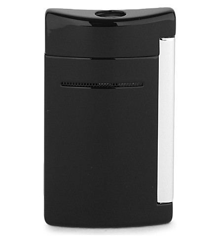 JAMES J FOX ST-DUPONT LIGHTER MINIJET BLACK GLOSS (Black+glossy