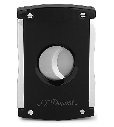 JAMES J FOX ST-DUPONT MAXIJET CIGAR CUTTER BLACK (Black+glossy