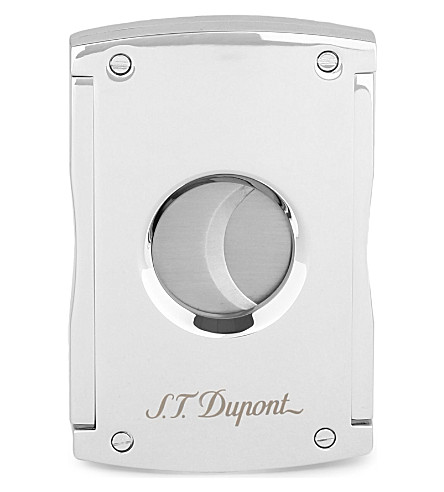 JAMES J FOX ST-DUPONT MAXIJET CIGAR CUTTER CHROME (Chrome