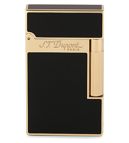 JAMES J FOX ST-DUPONT LIGHTER LIGNE (Black+yelow