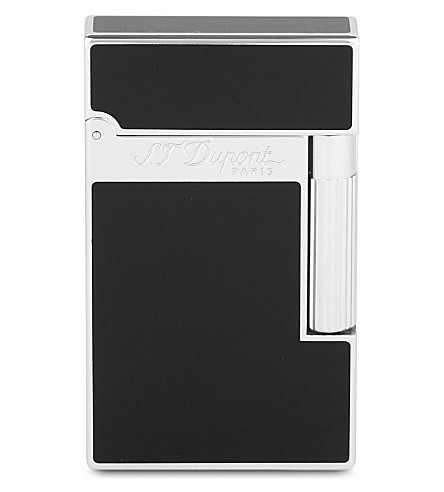 JAMES J FOX ST-DUPONT LIGHTER LIGNE (Black+palladium