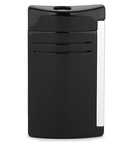 JAMES J FOX ST-DUPONT LIGHTER MAXIJET BLACK GLOSS (Black+glossy