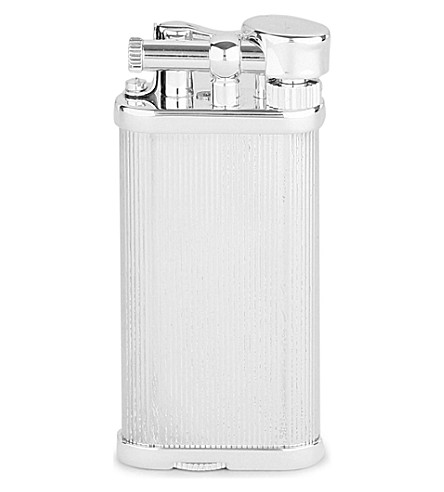 JAMES J FOX Dunhill unique white spot silver-plated lighter