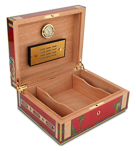 JAMES J FOX ELIE BLEU HUMIDOR ALBA RED SYCAMORE 75 (Red