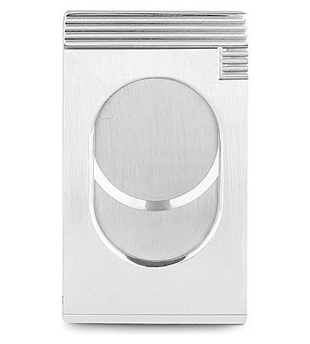 JAMES J FOX Cigar cutter (Silver+chrome