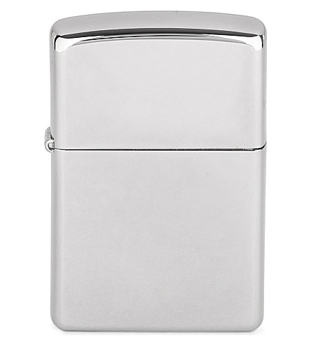 JAMES J FOX ZIPPO LIGHTER HP CHROME (Hp+chrome