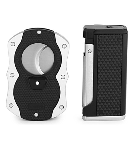 JAMES J FOX COLIBRI MONZA III SET BLACK & SILVER (Black+&+silver