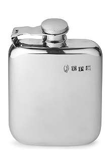 JAMES J FOX Pewter hip flask 4oz