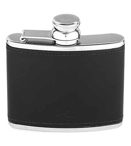 JAMES J FOX MARLBOROUGH HIP FLASK 4oz BLACK (Black
