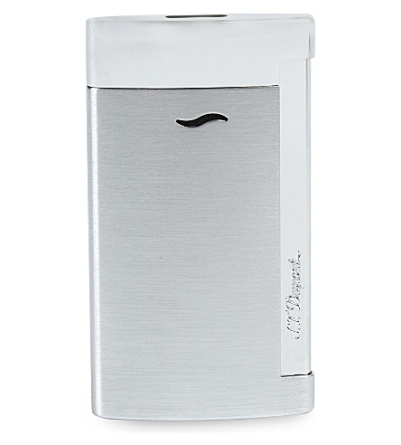 JAMES J FOX ST-DUPONT LIGHTER SLIM 7 BRUSHED CHROME