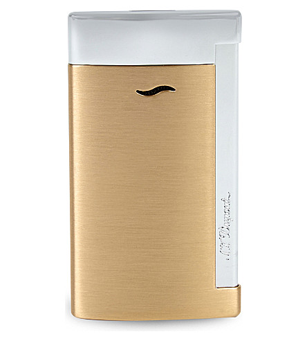 JAMES J FOX ST-DUPONT LIGHTER SLIM 7 BRUSHED GOLD