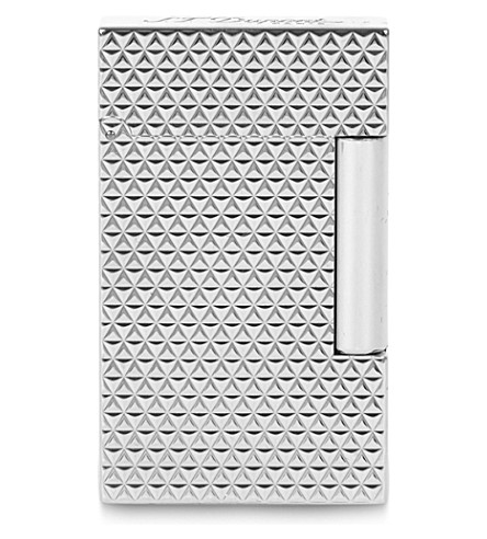 JAMES J FOX Ligne 2 fire head palladium lighter