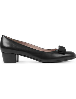 FERRAGAMO Vara leather courts
