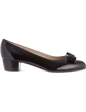 FERRAGAMO Vara patent leather court shoes