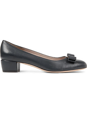 FERRAGAMO Vara leather court shoes